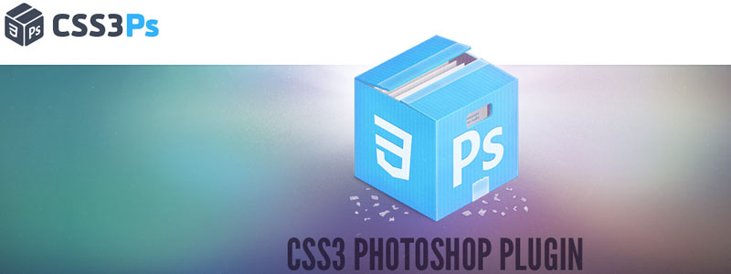 Homepage of the CSS3Ps Photoshop plugin