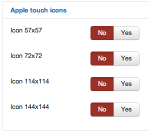 Using apple style icons